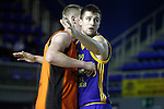 Montakit Fuenlabrada's Rolands Smits (l) and Herbalife Gran Canaria's Xavi Rabaseda during Eurocup, Top 16, Round 2 match. January 10, 2017. (ALTERPHOTOS/Acero)