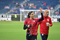 Kansas City, KS. - July 22, 2016: The U.S. Women's National team take on Costa Rica in a friendly match in preparation for the Olympics at Children's Mercy Park.