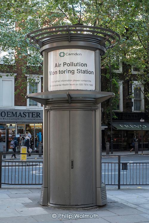 Camden Council Air Pollution Monitoring Station, Holborn, London.