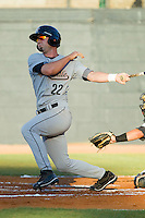 Marcus Nidiffer #22 of the Greeneville Astros follows through on his swing against the Bristol White Sox at Boyce Cox Field July 1, 2010, in Bristol, Tennessee.  Photo by Brian Westerholt / Four Seam Images