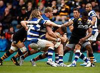 Photo: Richard Lane/Richard Lane Photography. London Wasps v Bath Rugby. Amlin Challenge Cup Semi Final. 27/04/2014. Wasps' Tom Lindsay attacks.