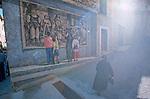 Italie. Italia. Sardaigne. Sardinia.Peintures murales (murales) politiques  dans les rues du village de Fonni