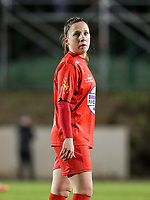 Taika De Koker (16) of Woluwe pictured during a female soccer game between FC Femina White Star Woluwe and AA Gent Ladies on the 13 th matchday of the 2020 - 2021 season of Belgian Scooore Womens Super League , friday 5 th of February 2021  in Woluwe , Belgium . PHOTO SPORTPIX.BE | SPP | SEVIL OKTEM