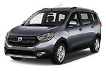 2017 Dacia Lodgy Stepway 5 Door Mini Van angular front stock photos of front three quarter view