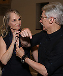 "Helen Hunt and David Garrison attends the Opening Night performance afterparty for ENCORES! Off-Center production of ""Working - A Musical""  at New York City Center on June 26, 2019 in New York City."