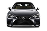 Car photography straight front view of a 2021 Lexus LS 500 4 Door Sedan Front View