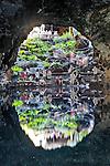 Spain, Canary Island, Lanzarote, near Arrieta: Jameos del Agua - underground lake in volcanic tunnel | Spanien, Kanarische Inseln, Lanzarote, bei Arrieta: Jameos del Agua: Kunst- und Kulturzentrum in der Gemeinde Haria, unterirdischer See in einer Lavahoehle