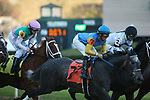 March 6, 2021: Oliviaofthedesert (7) with jockey David Cabrera aboard during the Honeybee Stakes (G3) at Oaklawn Racing Casino Resort in Hot Springs, Arkansas on March 6, 2021. Justin Manning/Eclipse Sportswire/CSM