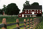Farm house and red barn fence Commonwealth of Virginia, Fine Art Photography by Ron Bennett, Fine Art, Fine Art photography, Art Photography, Copyright RonBennettPhotography.com ©
