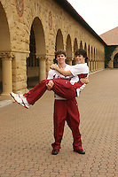 13 November 2006: Jesse Meredith and Brian Skinner on picture day in Stanford, CA.