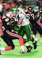 Scott Henderickson Saskatchewan Roughriders 1992. Photo F. Scott Grant