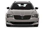 Car photography straight front view of a 2019 Skoda Superb-Combi Sport-Line 5 Door Wagon Front View