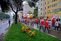 Manifestaçao em defesa da democracia. Apoio ao governo Dilma. Sao Paulo. 13/03/2015. Foto de Juca Martins.
