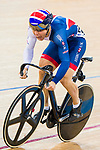 Ryan Owens of Great Britain and Harrie Lavreysen of the Netherlands compete on the Men's Sprint Semifinals - 1st Race during the 2017 UCI Track Cycling World Championships on 15 April 2017, in Hong Kong Velodrome, Hong Kong, China. Photo by Marcio Rodrigo Machado / Power Sport Images