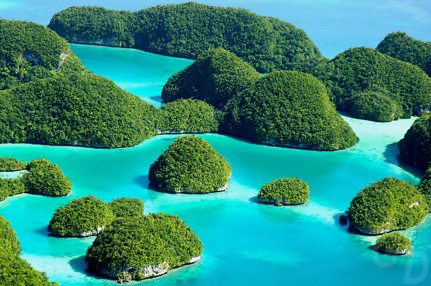 AERIAL PALAU AND 70 ISLANDS, MICRONESIA