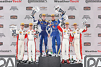 #37 MINI JCW Team, MINI JCW, ST: Derek Jones, Nate Norenberg, #81 BimmerWorld Racing, BMW 328i, ST: Nick Galante, Devin Jones, #73 MINI JCW Team, MINI JCW, ST: Mat Pombo, Mike LaMarra, podium
