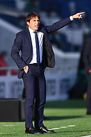 Antonio Conte coach of FC Internazionale reacts  during the Serie A football match between Atalanta BC and FC Internazionale at Gewiss stadium in Bergamo (Italy), November 8th, 2020. Photo Image Sport / Insidefoto