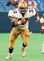 Matt Pearce Winnipeg Blue Bombers 1991. Photo F. Scott Grant