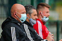 Assistant coach Arno Van Den Abbeel of OHL pictured during a female soccer game between Oud Heverlee Leuven and Standard femina de liege on the 5 th matchday of play off 1 in the 2020 - 2021 season of Belgian Womens Super League , saturday 8 th of May 2021  in Heverlee , Belgium . PHOTO SPORTPIX.BE | SPP | SEVIL OKTEM