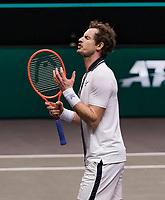 Rotterdam, The Netherlands, 28 Februari 2021, ABNAMRO World Tennis Tournament, Ahoy, First round match: Andy Murray (GBR).<br /> Photo: www.tennisimages.com