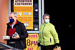 WATERTOWN CT. - 30 December 2020-123020SV02-A large sign at the entrance to LaBonne's Market reminds shoppers to wear a mask in Watertown Wednesday <br /> Steven Valenti Republican-American
