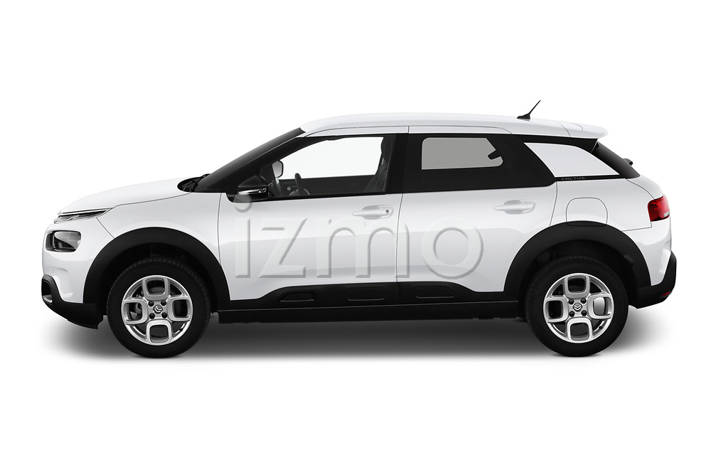 Car driver side profile view of a 2018 Citroen C4 Cactus Shine 5 Door SUV