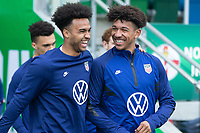 BELFAST, NORTHERN IRELAND - MARCH 28: Erik Palmer-Brown, Chris Richards of the United States during a game between Northern Ireland and USMNT at Windsor Park on March 28, 2021 in Belfast, Northern Ireland.