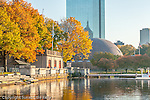 Autumn color along the Charles River Esplanade, Boston, MA