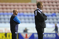 Paul Cook Manager of Wigan Athletic during the Sky Bet Championship match between Wigan Athletic and Swansea City at the DW Stadium in Wigan, England, UK. Friday 02 October 2018