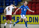 St Johnstone v Motherwell…..12.02.20   McDiarmid Park   SPFL<br />Chris Kane celebrates his goal<br />Picture by Graeme Hart.<br />Copyright Perthshire Picture Agency<br />Tel: 01738 623350  Mobile: 07990 594431