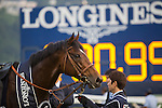 SHA TIN,HONG KONG-DECEMBER 11: Maurice,ridden by Ryan Moore,after winning the Hong Kong Cup at Sha Tin Racecourse on December 11,2016 in Sha Tin,New Territories,Hong Kong (Photo by Kaz Ishida/Eclipse Sportswire/Getty Images)