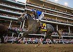 LOUISVILLE, KY - MAY 07: Mohaymen #14 with Junior Alvarado up race in the Kentucky Derby at Churchill Downs on May 07, 2016 in Louisville, Kentucky.(Photo by Alex Evers/Eclipse Sportswire/Getty Images)