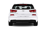 Straight rear view of a 2018 Hyundai Elantra GT GT Auto 5 Door Hatchback stock images