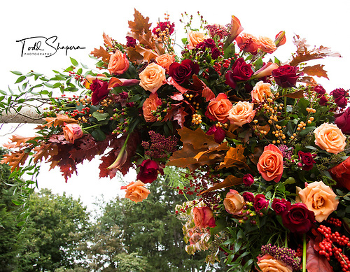 Tappan Hill Hudson Room<br /> Autumn Wedding<br /> Damselfly Bouquets and Florals