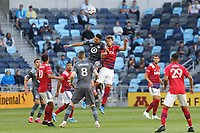 SAINT PAUL, MN - MAY 15: Emanuel Reynoso #10 of Minnesota United FC goes for the ball during a game between FC Dallas and Minnesota United FC at Allianz Field on May 15, 2021 in Saint Paul, Minnesota.