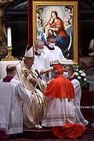 Cardinal Marcello Semeraro .Pope Francis leads a consistory for the creation of five new cardinals  at St Peter's basilica in Vatican.28 november 2020