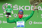 Mark Cavendish (GBR) Deceuninck-Quick Step retains the points Green Jersey at the end of Stage 16 of the 2021 Tour de France, running 169km from Pas de la Case to Saint-Gaudens, Andorra. 13th July 2021.  <br /> Picture: Colin Flockton   Cyclefile<br /> <br /> All photos usage must carry mandatory copyright credit (© Cyclefile   Colin Flockton)