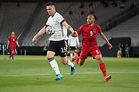 Niklas Süle (Deutschland Germany) gegen Martin Braithwaite (Dänemark, Denmark) - Innsbruck 02.06.2021: Deutschland vs. Daenemark, Tivoli Stadion Innsbruck