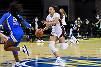 SANTA CRUZ, CA - JANUARY 22: Haley Jones #30 drives to the basket during the Stanford Cardinal women's basketball game vs the UCLA Bruins at Kaiser Arena on January 22, 2021 in Santa Cruz, California.