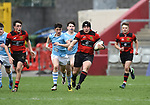 Aaron Hennessy of Ennis makes a run against Garryowen during their U-18 Munster Club Final at Thomond Park. Photograph by John Kelly.