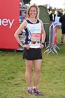 Sophie Raworth<br /> at the start of the 2016 London Marathon, Blackheath, Greenwich London<br /> <br /> <br /> ©Ash Knotek  D3108 24/04/2016