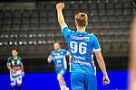 Tim Wieling (TVB Stuttgart #96) ; BGV Handball Cup 2020 Finaltag: TVB Stuttgart vs. FRISCH AUF Goeppingen am 13.09.2020 in Stuttgart (PORSCHE Arena), Baden-Wuerttemberg, Deutschland<br /> <br /> Foto © PIX-Sportfotos *** Foto ist honorarpflichtig! *** Auf Anfrage in hoeherer Qualitaet/Aufloesung. Belegexemplar erbeten. Veroeffentlichung ausschliesslich fuer journalistisch-publizistische Zwecke. For editorial use only.