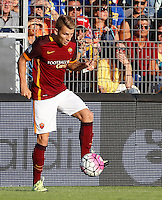 Calcio, Serie A: Frosinone vs Roma. Frosinone, stadio Comunale, 12 settembre 2015.<br /> Roma's Lucas Digne in action during the Italian Serie A football match between Frosinone and Roma at Frosinone Comunale stadium, 12 September 2015.<br /> UPDATE IMAGES PRESS/Riccardo De Luca