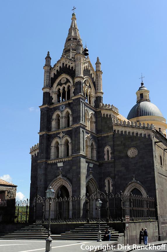 Kathedrale in Randazzo, Sizilien, Italien