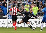 Hartlepool United 0 Sunderland 3, 20/07/2016. Victoria Park, Pre Season Friendly. Jermain Defoe of Sunderland scores his first goal. Photo by Paul Thompson.