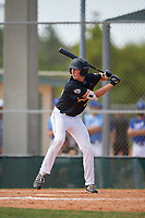 Drew Gray (34) during the WWBA World Championship at Terry Park on October 8, 2020 in Fort Myers, Florida.  Drew Gray, a resident of Swansea, Illinois who attends IMG Academy, is committed to Arkansas.  (Mike Janes/Four Seam Images)