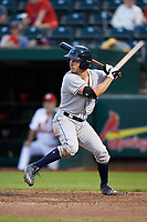 Corpus Christi Hooks catcher Garrett Stubbs (1) at bat during a game against the Springfield Cardinals on May 31, 2017 at Hammons Field in Springfield, Missouri.  Springfield defeated Corpus Christi 5-4.  (Mike Janes/Four Seam Images)