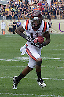 Virginia Tech receiver Dyrell Roberts. The Pitt Panthers defeated the Virginia Tech Hokies 35-17 at Heinz field in Pittsburgh, PA on September 15, 2012.