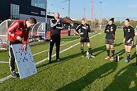 OHL's head coach Jimmy Coenraets pictured during a breefing before the female soccer game between SV Zulte - Waregem and Oud Heverlee Leuven on the sixth matchday of the 2020 - 2021 season of Belgian Scooore Women s SuperLeague , saturday 7 th of November 2020  in Zulte , Belgium . PHOTO SPORTPIX.BE   SPP   DIRK VUYLSTEKE