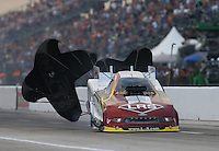 Apr. 26, 2013; Baytown, TX, USA: NHRA funny car driver Tim Wilkerson during qualifying for the Spring Nationals at Royal Purple Raceway. Mandatory Credit: Mark J. Rebilas-